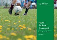 Sports Facilities Framework Strategic Directions - City of Marion