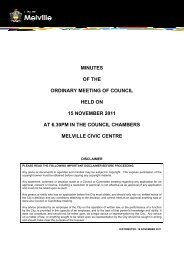 Minutes Ordianry Meeting of Council -15 November ... - City of Melville