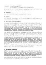Protokoll - Kleintiere Schweiz