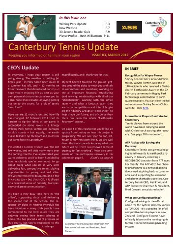 March Baseline Magazine - Canterbury Tennis