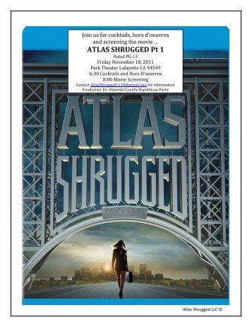 ATLAS SHRUGGED Pt 1 - BayAreaGOP.com