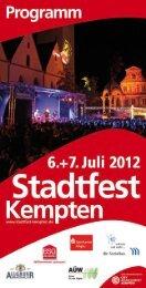 Programm - Stadtfest Kempten im Allgäu