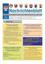 Nr. 40 vom 07. Oktober 2011 - Vogtsburg im Kaiserstuhl