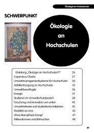 Ökologie an Hochschulen - Bundeskoordination Studentischer ...