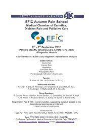 EFIC Autumn Pain School 2th - PAINCOURSE