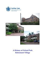 A History of Oxford Park Retirement Village - Caritas Care