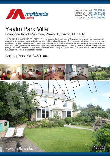 Yealm Park Villa