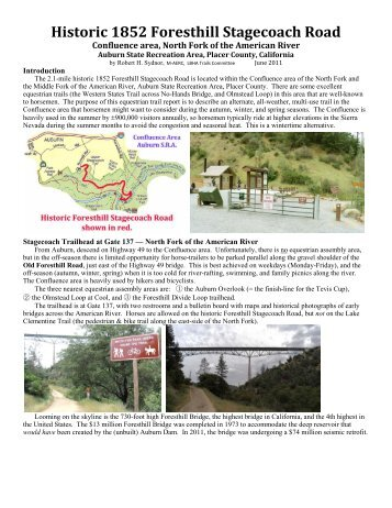 Foresthill Stagecoach Road Trail Review - Park Watch Report
