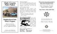 neighborhood watch.qxd - Clark County Nevada