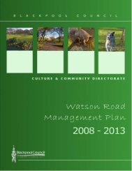 Watson Road Management Plan - Blackpool Council
