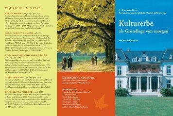 Kulturerbe als Grundlage von morgen - Baden-Baden (Bad-Bad)