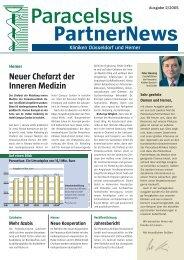 Paracelsus PartnerNews 2/2005 - bei der Paracelsus-Kliniken ...