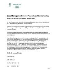 Case Management in der Paracelsus Klinik Zwickau