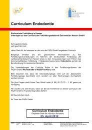Curriculum Endodontie - Fortbildungsakademie Zahnmedizin ...