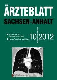 2012 - Ärztliche Weiterbildung in Sachsen-Anhalt