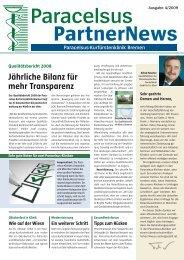 Jährliche Bilanz für mehr Transparenz - bei der Paracelsus-Kliniken ...