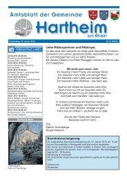Gemeindeblatt 2013 KW 2 - Gemeinde Hartheim