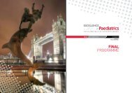 2010 Final Programme - Excellence in Paediatrics 2012