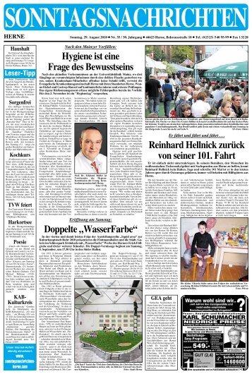 """Doppelte""""WasserFarbe"""" - Sonntagsnachrichten"""