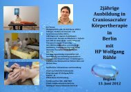 2jährige Ausbildung in Craniosacraler Körpertherapie in Berlin mit ...