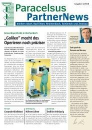 Paracelsus PartnerNews 03 2008 - bei der Paracelsus-Kliniken ...