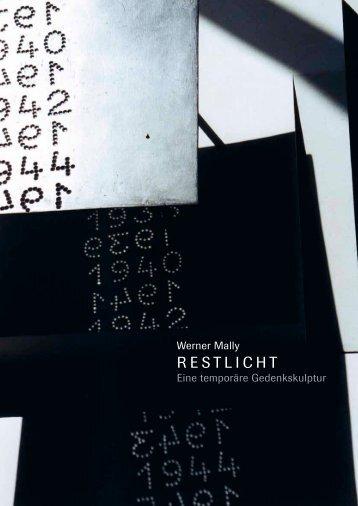 Folder RESTLICHT - WÄCKER & GRAUPNER | Kunstvermittlung