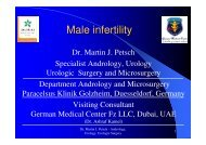 Male infertility Dr. Petsch - German Andrology & Urology Center