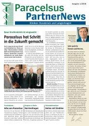 Paracelsus PartnerNews 01 2008 - bei der Paracelsus-Kliniken ...
