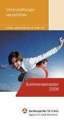 Sommersemester 2008 - TU Dortmund