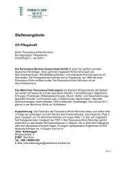als PDF - bei der Paracelsus-Kliniken Deutschland GmbH & Co. KGaA