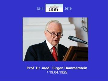 Prof. Dr. med. Jürgen Hammerstein - GGG, Gesellschaft für ...