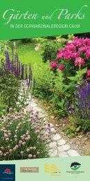 Broschüre: Gärten und Parks in der Schwarzwaldregion ... - Stadt Calw