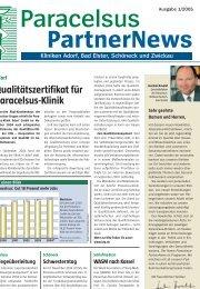 Paracelsus PartnerNews 1/2005 - bei der Paracelsus-Kliniken ...