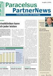 Privatkliniken kann sich jeder leisten - bei der Paracelsus-Kliniken ...