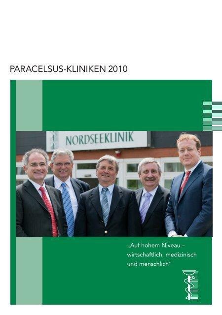 Jahresbericht 2010 - bei der Paracelsus-Kliniken Deutschland ...