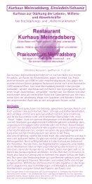 Prospekt (PDF) - Stiftung Paracelsus heute