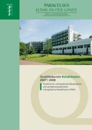 Qualitätsbericht Paracelsus-Klinik an der Gande Bad Gandersheim