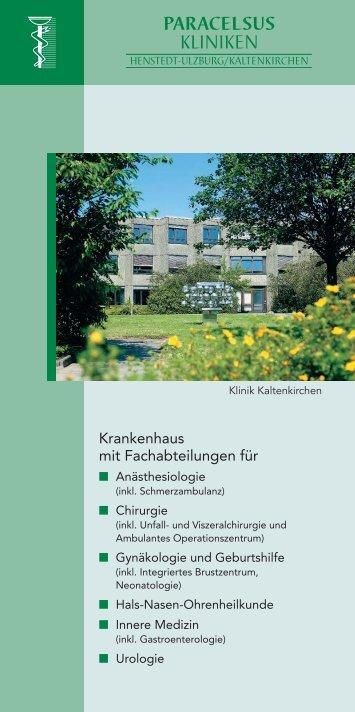 Paracelsus-Klinik Henstedt-Ulzburg/Kaltenkirchen - bei der ...