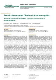 Test of a Homeopathic Dilution of Aconitum napellus