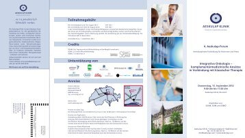 Integrative Onkologie - Aeskulap Klinik