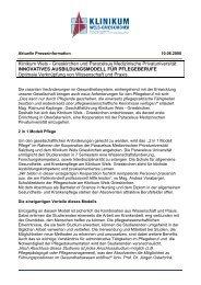 Klinikum Wels - Grieskirchen und Paracelsus ... - PR Portal