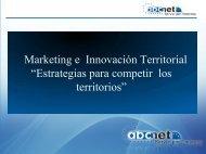 """Marketing e Innovación Territorial """"Estrategias para competir los ..."""