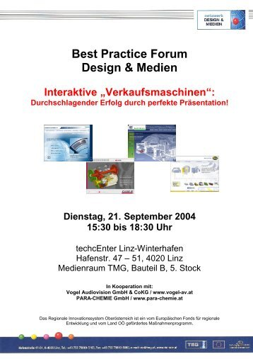 Best Practice Forum Design & Medien Interaktive ... - RIO