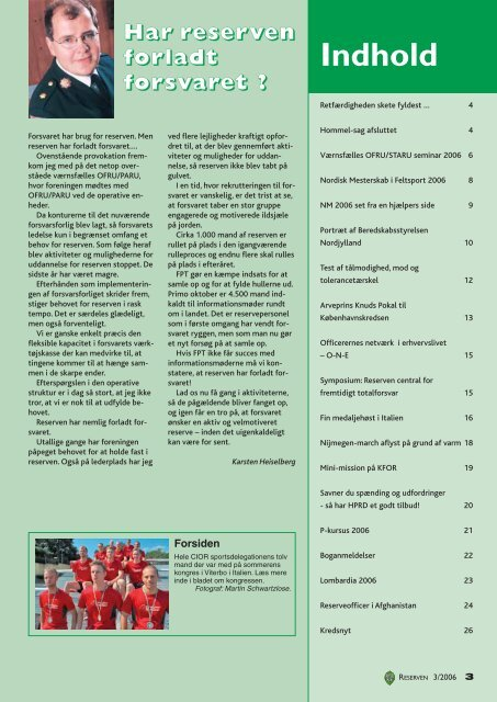 Reserven nr. 3 / 2006 - HPRD - Hovedorganisationen for Personel ...