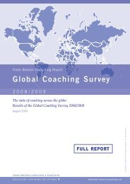 Global Coaching Survey - Frank Bresser Consulting