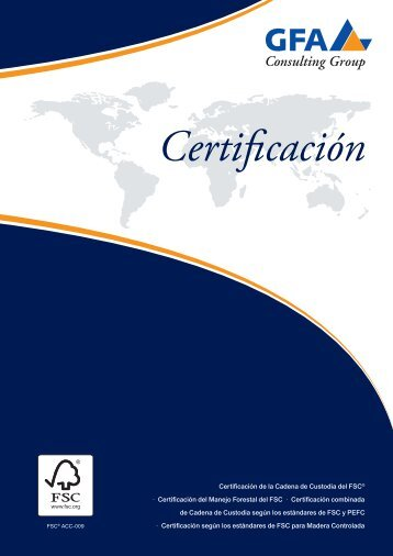 Certificación - GFA Consulting Group