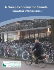 A Green Economy for Canada: Consulting with Canadians