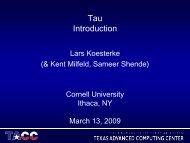Slides - Cornell University Centre for Advanced Computing