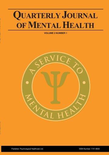 para 99238 COVER - Quarterly Journal of Mental Health