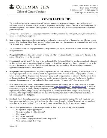cv and cover letter writing for academic university of